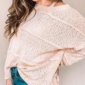 Blush Slouchy Sweater